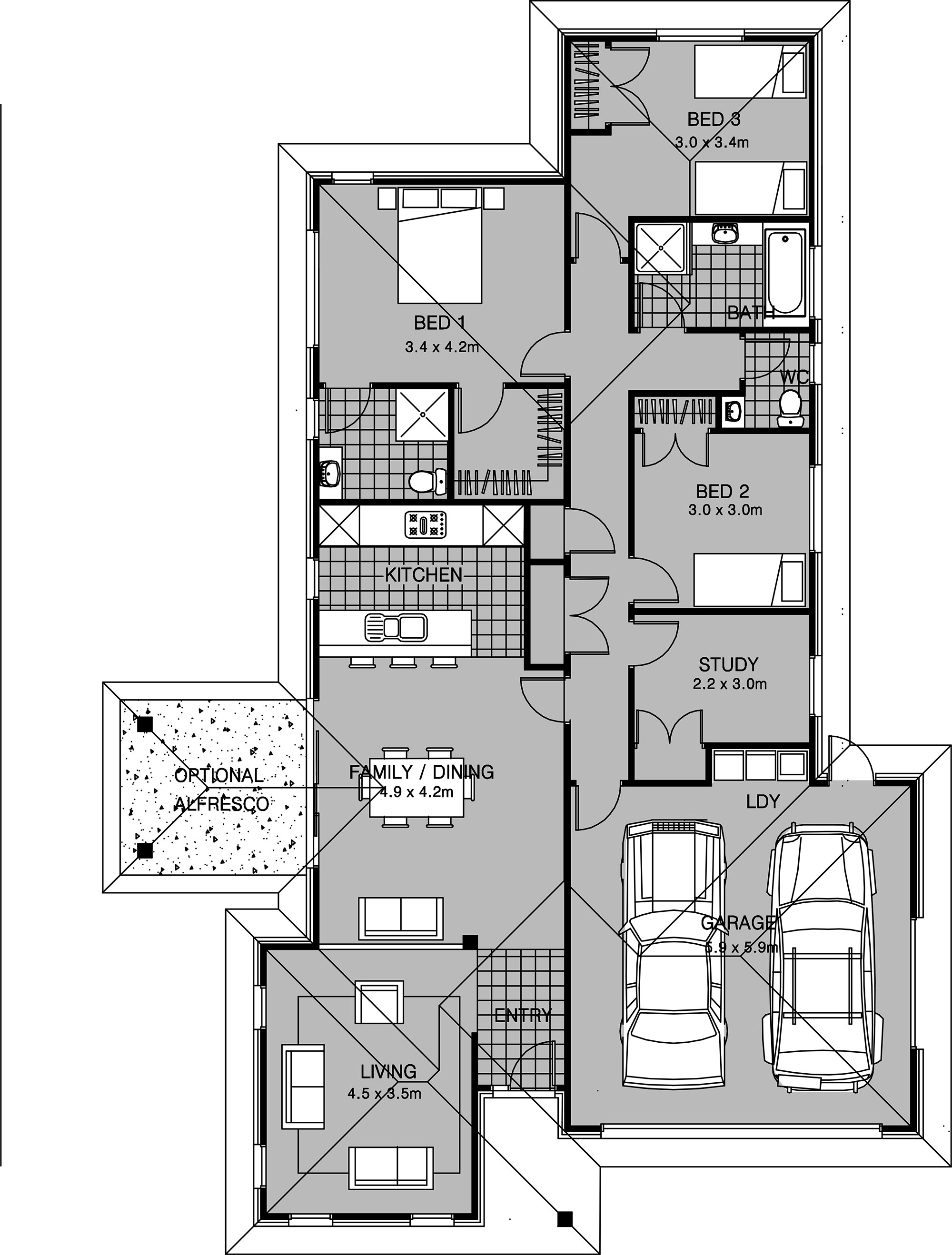 175m2 ultimate homes nz for 4 bedroom house plans nz